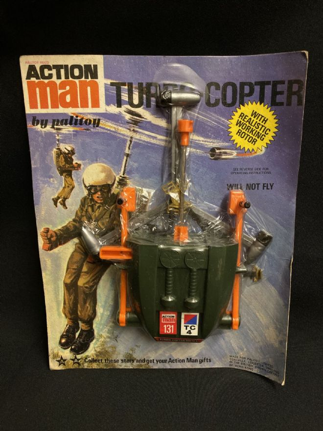 VINTAGE ACTION MAN - First Issue CARDED TURBO COPTER